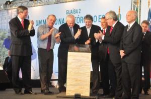Governador Tarso Genro participou da cerimônia em Guaíba Crédito: André Ávila