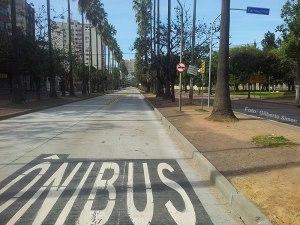 A nova data para a finalização da primeira etapa do sistema BRT está fixada para dezembro.  Foto: Gilberto Simon - Porto Imagem