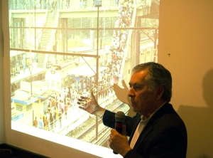 """Sérgio Magalhães: """"O que há é a necessidade de se utilizar todos os modos de transporte articuladamente""""   Foto IABRJ"""