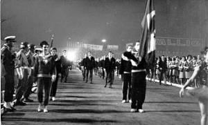 Cerimônia de abertura da Universiade de 1963 foi realizada no Estádio Olímpico, em Porto Alegre.