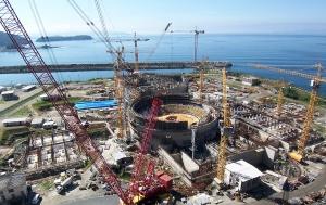 Obras da Usina Nuclear Angra 3. Foto: Divulgação