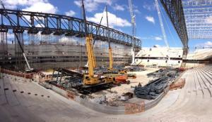 Arena da Baixada tem as obras mais atrasadas dos estádios (crédito: CAP/SA)