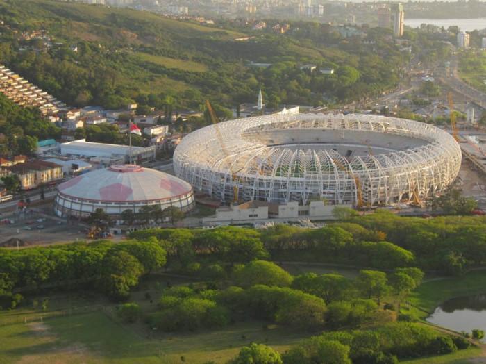 Vista aérea do Estádio Beira-Rio. Foto: Alexandre Sperb