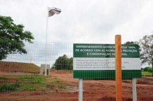 As obras de construção da sede da fábrica alemã de blindados KMW estão paradas em Santa Maria Foto:  Fernando Ramos  /  Agencia RBS