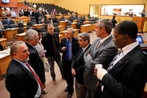 Sem quórum do plenário, votação foi suspença na tarde desta quarta-feira Crédito: Ederson Nunes/CMPA/CP