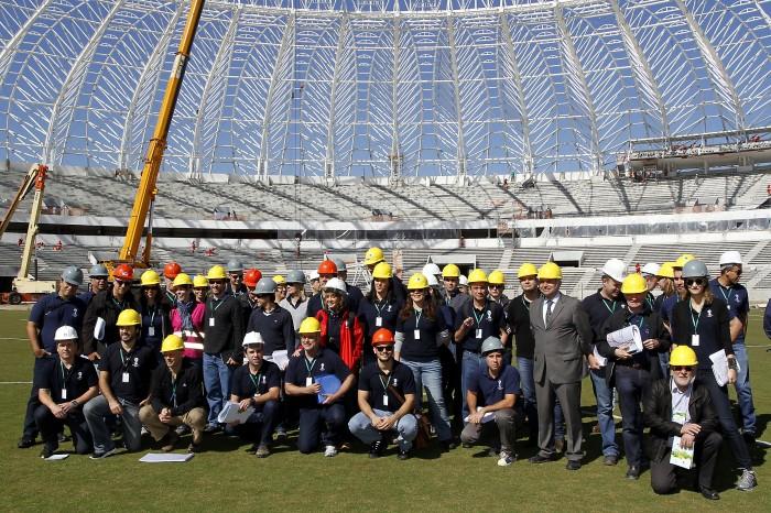 Reunião e visita de monitoramento com representantes da Fifa  Foto: Luciana Turela/Divulgação PMPA