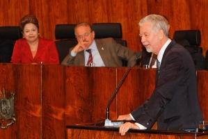 Prefeito elogiou empenho da presidenta para que o sonho se tornasse real   Foto: Luciano Lanes / PMPA