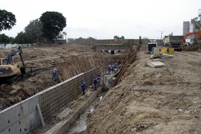 Está sendo canalizada uma extensão de 620 metros do arroio na zona Sul  Foto: Marco Maracci/Divulgação PMPA