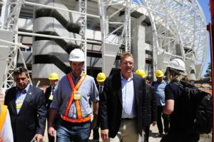 Jérome Valcke que presença física da entidade serve para agilizar obras para a Copa  Crédito: Divulgação / Inter / CP