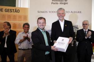 Carús e Fortunati apresentaram plano que permite planejar para futuras gestões   Foto: Ricardo Giusti/PMPA