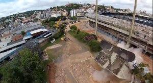 Demolição parcial do Olímpico - captura de video - Diário Gaúcho