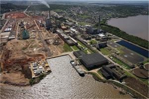 A Celulose Rio-grandense já em obras de ampliação.