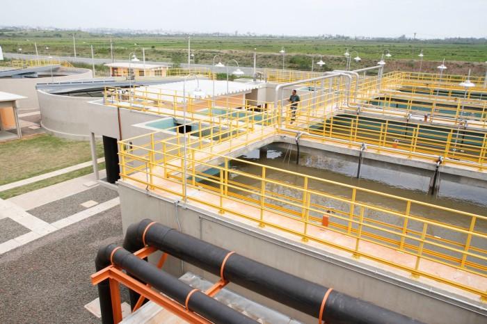 Estação de Tratamento de Esgoto (ETE) Sarandi foi inaugurada em 11 de outubro   Foto: Cristine Rochol/PMPA