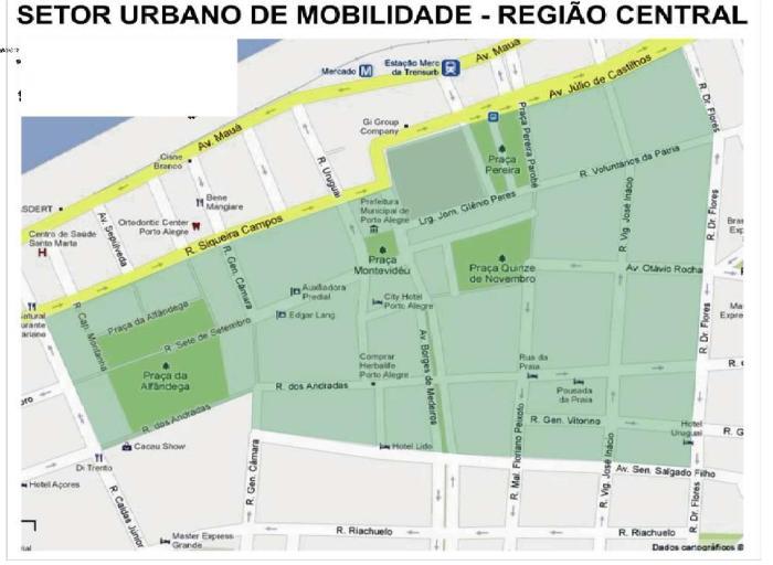Mapa mostra área que será atingida