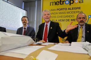 Prefeitura recebe oito propostas para o metrô de Porto Alegre  Crédito: Luciano Lanes / PMPA