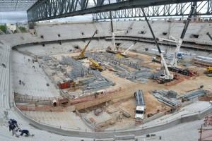Situação atual da Arena da Baixada: estádio não é citado em apresentação de Curitiba (Foto: Divulgação)