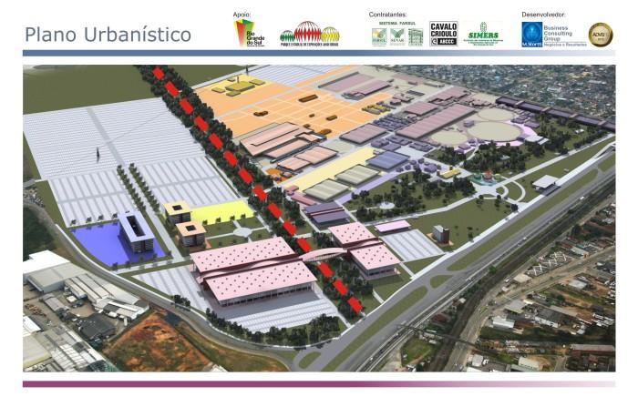 Imagem ilustrativa do plano de remodelagem do Parque Assis Brasil  Divulgação M.Stortti