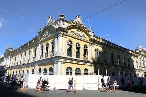 Nesta segunda, foi montada a estrutura para o desenvolvimento da restauração  Foto: Ivo Gonçalves/PMPA
