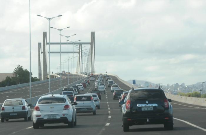 Tráfego na BR 448 foi liberado para veículos neste domingo Crédito: Tarsila Pereira