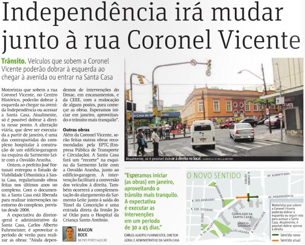 Independência irá mudar junto à Coronel Vicente