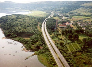 Vista aérea da freeway na altura da Lagoa dos Barros. Foto: Portal RP