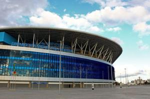 Entorno da Arena é problema para receber o Mundial Crédito: Lucas Uebel / Divulgação Grêmio / CP