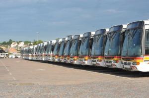 Greve de ônibus segue em Porto Alegre Crédito: Mauro Schaeffer