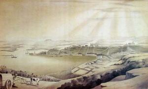 Porto Alegre em 1852 vista do sul