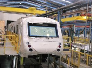 Novos trens da Trensurb em fabricação. Fotos: Divulgação/Trensurb