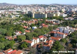 Vista parcial do Bairro Petrópolis, a partir do 18º de um prédio. Foto: Gilberto Simon