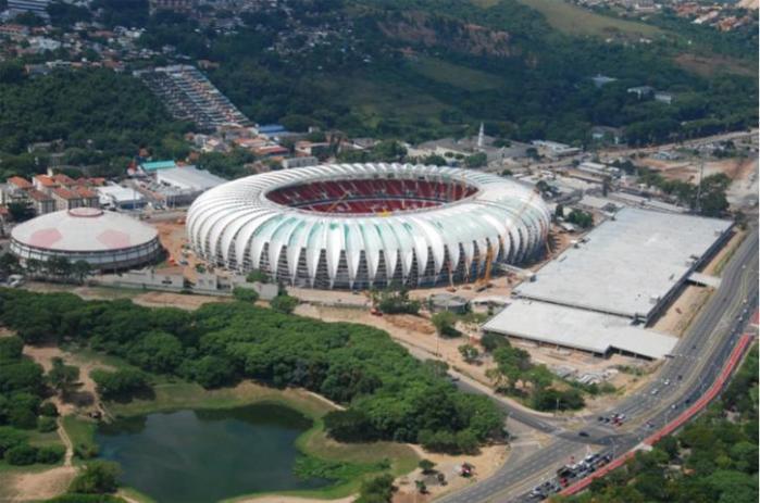 Estruturas exigidas pela Fifa geram polêmica em Porto Alegre Crédito: Divulgação Inter / CP
