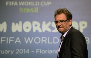 Valcke prometeu que estádio estará completamente pronto em 15 de maio Crédito: Vanderlei Almeida / AFP / CP