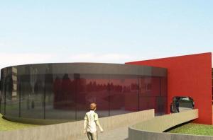 Maquete mostra o projeto desenhado e doado por Niemeyer em 2008  Crédito: Reprodução / CP