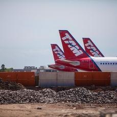 Obra do Aeroporto Internacional Salgado Filho - Terminal 1. Foto: Infraero