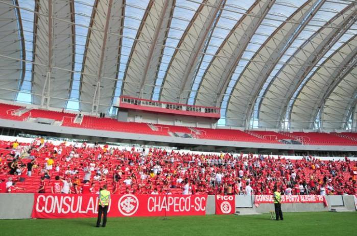 Bombeiros devem vistoriar o estádio nesta quinta-feira Crédito: Ricardo Giusti