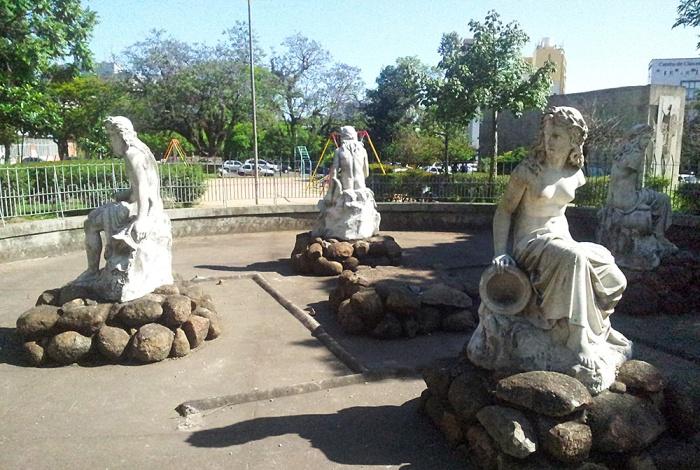 Local atual do monumento. Foto: Gilberto Simon