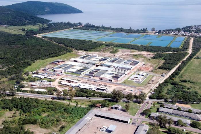 Estação de Tratamento de Esgoto da Serraria   Foto: Divulgação/PMPA