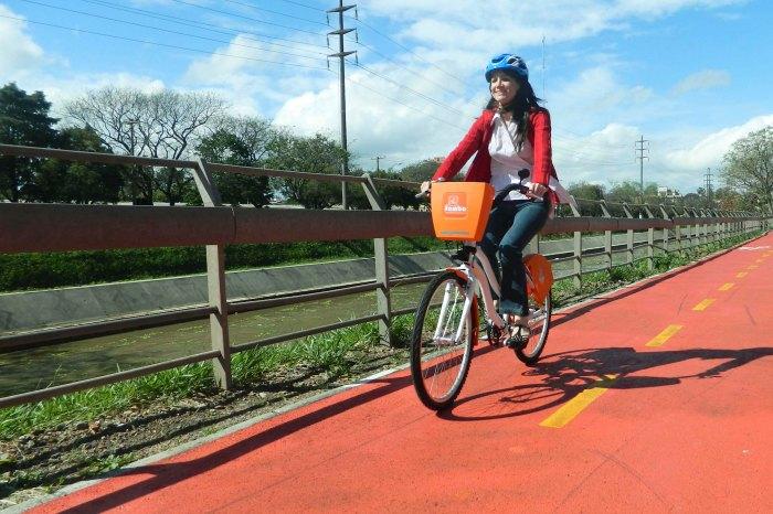 Sistema de aluguel de bicicletas já conta com 100 mil usuários cadastrados Foto: Lucas Barroso/Divulgação PMPA