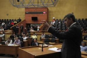 Sebastião Melo participou da audiência pública na noite de segunda-feira Foto: Ricardo Giusti/PMPA