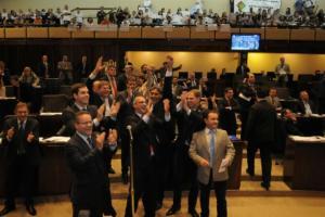Projeto recebeu 31 votos favoráveis, contra 19  Crédito: Marcelo Bertani / ALRS / CP