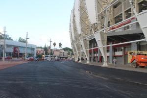 Estruturas temporárias são exigidas pela Fifa para estádios da Copa  Crédito: Jonathas Costa / Especial CP