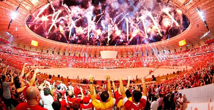 Festa de reinauguração do Beira-Rio celebrada em Porto Alegre. Alexandre Lops/ Inter  Agência
