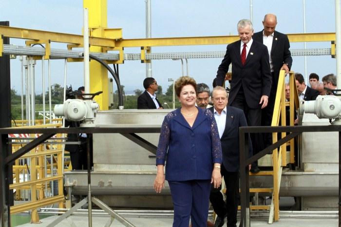 Dilma visitou as instalações da Estação de Tratamento de Esgoto Serraria Foto: Luciano Lanes/PMPA