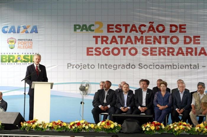 Fortunati destacou que o Pisa ajudará a tornar o Guaíba novamente balneável Foto: Luciano Lanes/PMPA