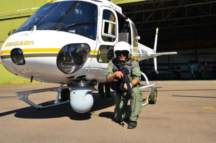 Aviação da Brigada fará patrulhamento com oito helicópteros  Crédito: Robson Camargo / Especial / CP
