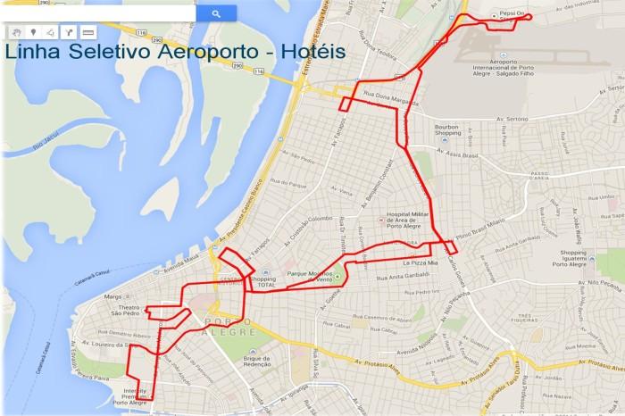 Com seis ônibus, itinerário terá cerca de 30 quilômetros até os principais hotéis Foto: Divulgação/PMPA