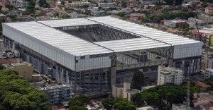 Foto aérea da Arena da Baixada Portal da Copa