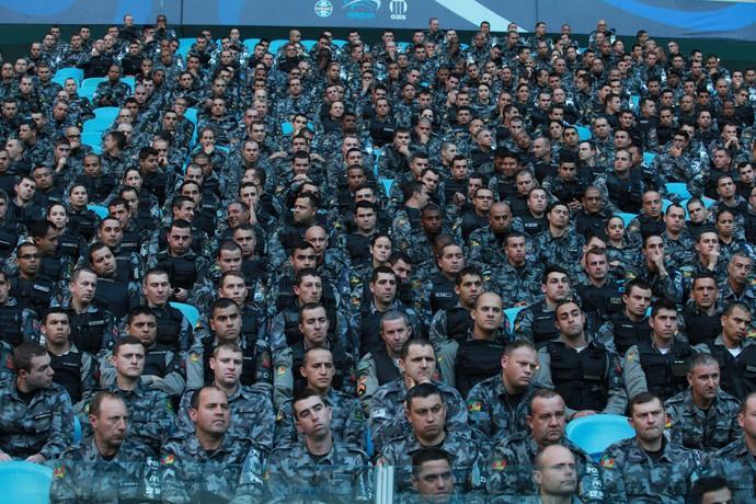 Dois batalhões foram criados especificamente para o período da Copa do Mundo (Foto: Robson Alves/Brigada Militar)
