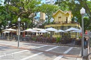 Chalé da Praça XV será a Maison Bleu. Foto: Gilberto Simon.