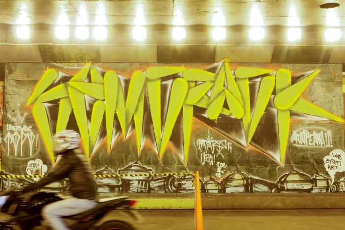 Oitenta grafiteiros participaram da ação Foto: Cristine Rochol/PMPA